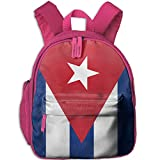 : DoBag Kid's Cuba Flag Red Blue School Shoulder Bag Backpack Outdoor Daypack For Boys&Girls