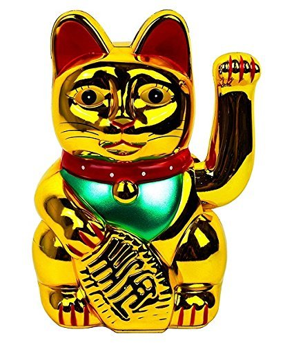 Gold Lucky Cat 6""