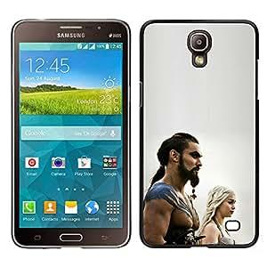 KLONGSHOP // Cubierta de piel con cierre a presión Shell trasero duro de goma Protección Caso - Khal Drogo - Samsung Galaxy Mega 2 //