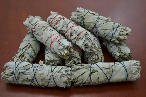 30 Pcs White Sage Bundle Smudge Incense 5''-6''+1 Incense Burner by Wincense (Image #3)