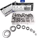 Comdox 360Pcs 8 Sizes Stainless Steel Flat Washers Assortment Set (M2 M2.5 M3 M4 M5 M6 M8 M10)