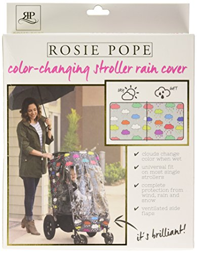 ROSIE POPE Baby Stroller Rain Cover - Waterproof & Weather Shield for Strollers - Clouds