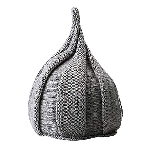 Design Unisex Adult Women Men Solid Winter Crochet Hat Knit Hat Pumpkin Cap Warm Cap New Year Gift Gray]()