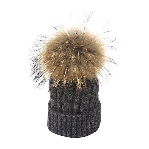 Isuper Il Cappello Invernale di Lana Lavorato a Maglia per i Bambini Regalo Natale per Ragazzi Cappello Pom Pom
