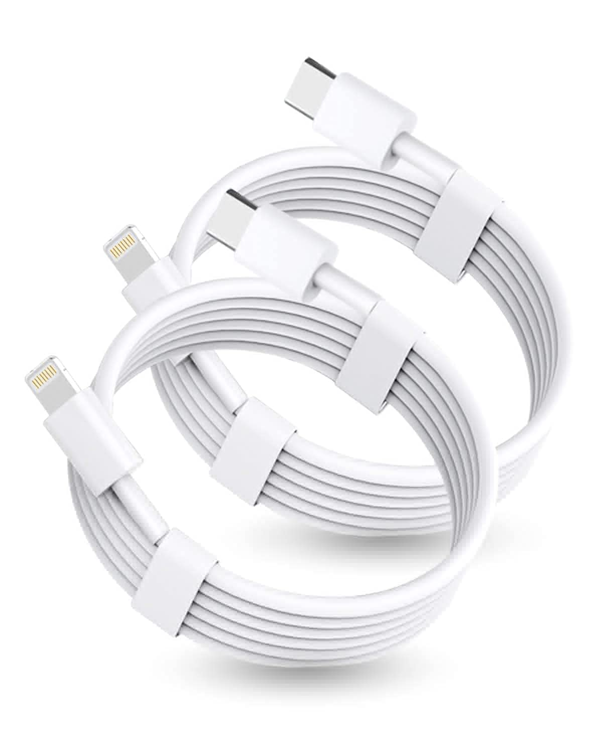 2Pack USB C iPhone 12 Charger Cable 6ft【Apple MFi Certified】,USB C to Lightning Charging Cable Power Delivery Lightning to Type C Charger Cord for iPhone 12 Pro Max/11 Pro/X/XS/XR/8 Plus