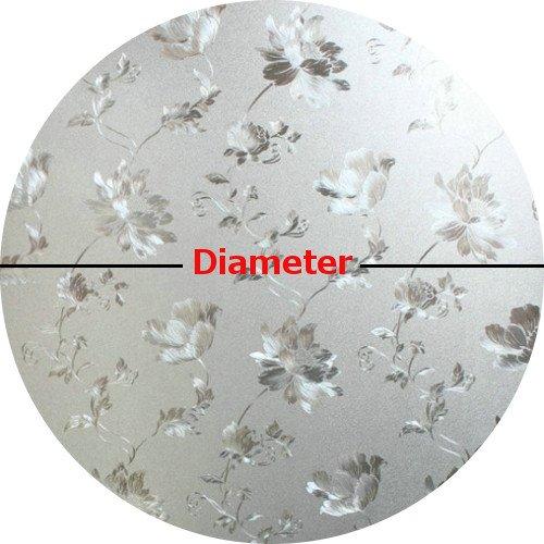 プレカット花柄ガラスプライバシーウィンドウフィルム円、自己接着剤Static Cling 32 inches Diameter FLORALGLASSPRIVACYCIRCLEWINDOWFILM32 B00MP02MBI 32 inches Diameter