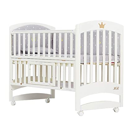 2cce1442df93 Amazon.com  TYUE Baby Cot Sleigh Cotbed Toddler Bed