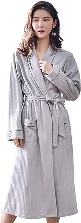 Batas de algodón para Mujer, sección Larga con Pijama, sección Delgada, Yukata, Servicio a Domicilio, camisón Sexy: Amazon.es: Hogar