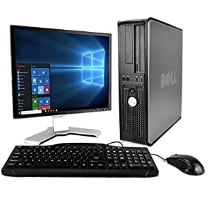 DELL Optiplex Desktop with 20in LCD Monitor (Core 2 Duo 3.0Ghz, 8GB RAM,1TB HDD, Windows 10 Pro), Black (Certified Refurbished)
