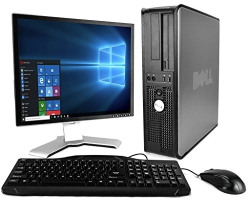 DELL Optiplex  Desktop with 20in LCD Monitor (Core 2 Duo 3.0Ghz, 8GB RAM, 1TB HDD, Windows 10), Black (CertifiedRefurbishd)
