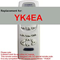 Replacement for GE Air Conditioner Remote Control Model Number YK4EA Works for AEH18DL AEH18DLG1 AEH18DM AEH18DMG1 AEH24DJ AEH24DJH1 AEH24DK AEH24DKH1 AEH25DL AEH25DLH1 AEH25DM AEH25DMH1 AEM14AM