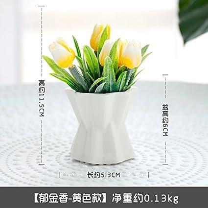 KPHY Pastoral fresco botellas de ceramica planta de emulación de flores adornos plantas de maceta de