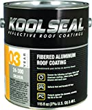 Kst Coatings Ks0024300-16 Asphalt Based Aluminum Roof Coating, 1 Gallon (Pack Of 4)