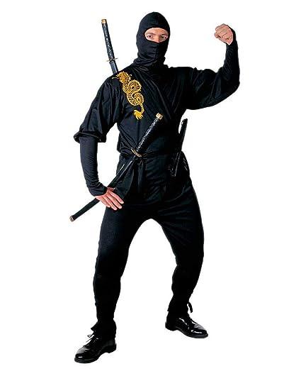 Disfraz Ninja Negro Golden Dragon L: Amazon.es: Juguetes y ...
