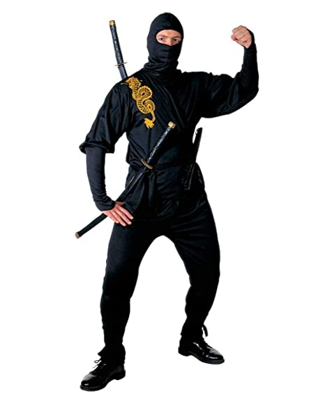 Disfraz Ninja Negro Golden Dragon L: Amazon.es: Juguetes y ...