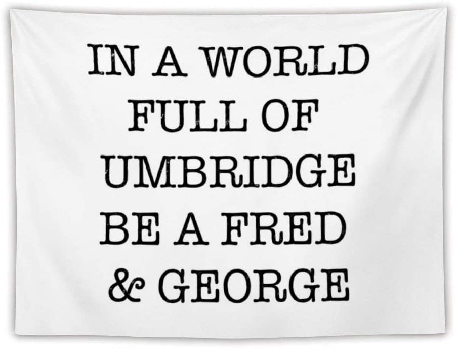 in A World Full of Umbridge Apron Wall Tapestry Apestry Album 3D Wall Hanging Art Home Decor Wave Tapestries