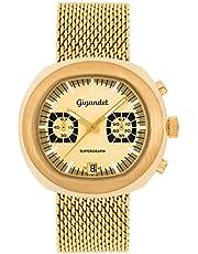 Gigandet Supergraph Orologio da Uomo Quarzo Cronografo Analogico Data Oro G11-004