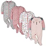 Gerber Baby Girls' 4 Pack Sleep N' Play