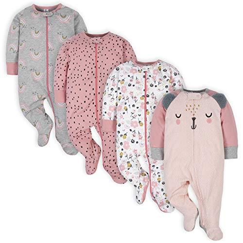 Gerber Baby Girls' 4 Pack Sleep N' Play