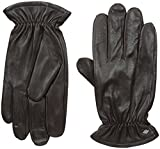 Joseph Abboud Men's Fine Leather Gloves with Melange Fleece Lined Interior, Conker, Large