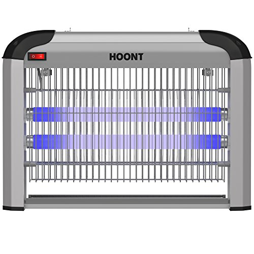 Hoont Electric Indoor Fly Zapper And Bug Zapper Trap Killer Catcher   Protects 6 000 Sq  Ft Fly And Bug Killer  Mosquito Killer Insect Killer  Upgraded