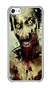 Apple Iphone 5C Case,WENJORS Uncommon UNDEAD Hard Case Protective Shell Cell Phone Cover For Apple Iphone 5C - PC Transparent