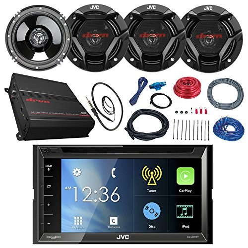 jvc-kwv820bt-68-touch-screen-car-cd-dvd-bluetooth-receiver-bundle-combo-with-4x-65-300-watt-2-way-co