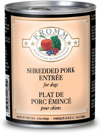 Fromm s Four Star Canned Dog Food – Shredded Pork Entree 12 13oz cans