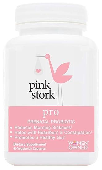 Pink Stork Pro: Pregnancy Probiotic -for Morning Sickness & Gut Health  -Developed for Pregnancy -Good