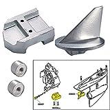 Tecnoseal Anode Kit w/Hardware - Mercury Alpha 1 Gen 1 - Aluminum by Tecnoseal