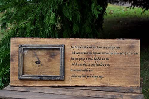 Personalized Photo Frame - Personalized Photo Gifts - Personalized Gift - Engraved Picture Frame Rustic Home Decor