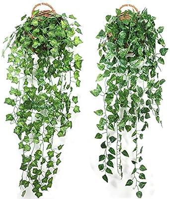 UK Artificial Ivy Leaf Trailing Vine Fake Foliage Flower Hanging Garland Decor
