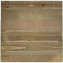 "Hampton Art JB0462 Mix The Media Wooden Plank Plaque, 12"" by 12"""
