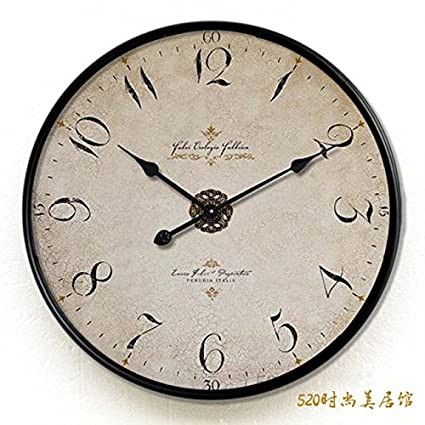Y-Hui The living room wall clock watch large iron mute,20 inches,
