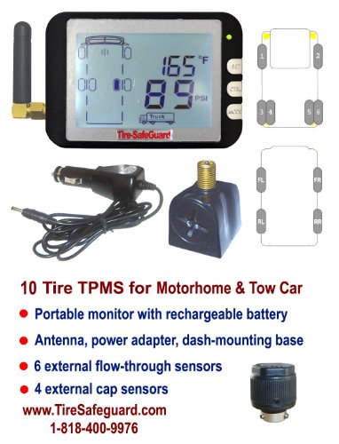 TPMS - Flow Through Sensor EEZ RV Products EEZTire-TPMS Tire Pressure Monitoring System 1 ea