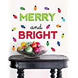 Paper Riot Christmas Large Removable Wall Decal | Merry and Bright Holiday Lights
