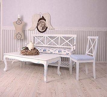 Shabby Weiß Couchtisch Hochglanz Wohnzimmer Kaffeetisch MDF Sofatisch Möbel Neu