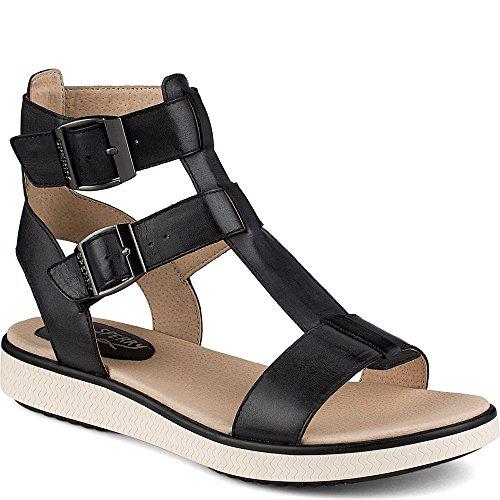 Sperry Top-Sider Women's Bay Bell Gladiator Sandal, Black, 7 M US Leather Comfort Sandals