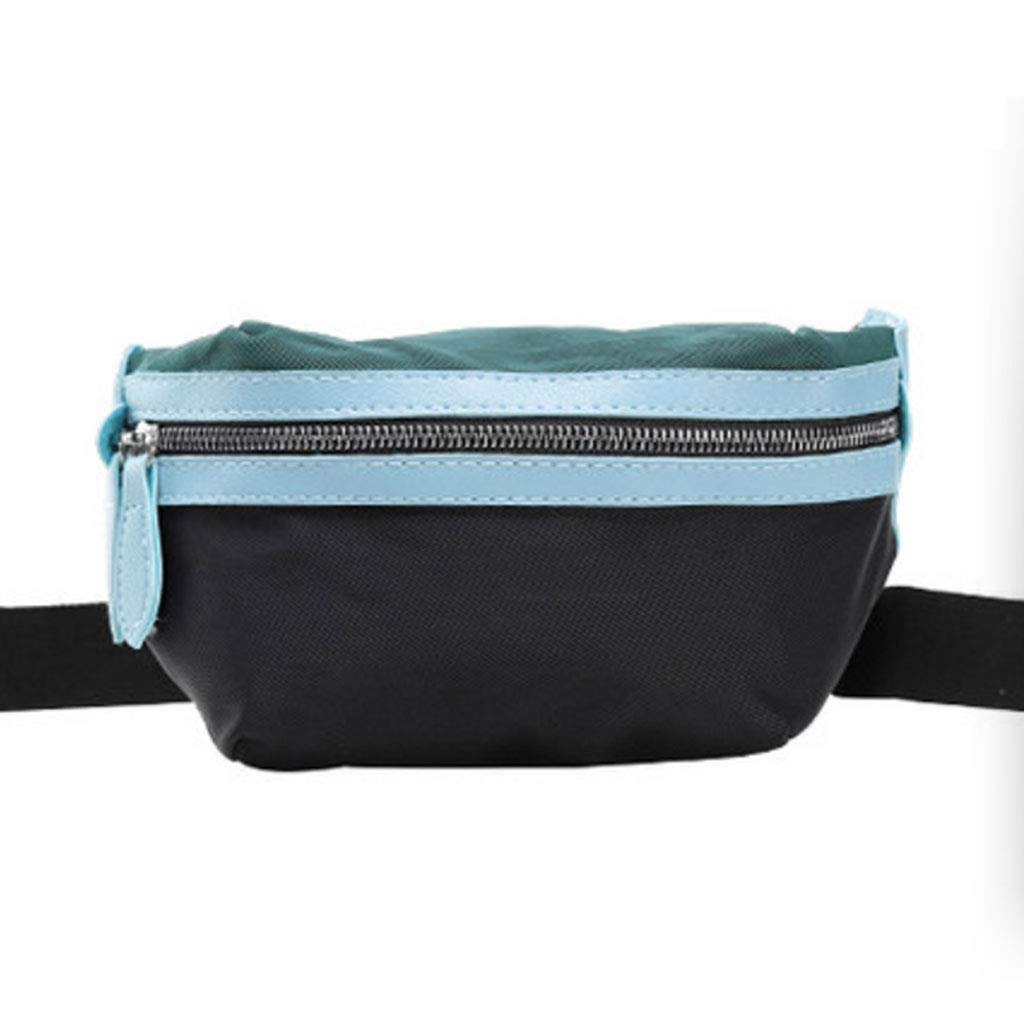 Color : Green Mens and Womens Wild Messenger Bag Nylon Female Pockets