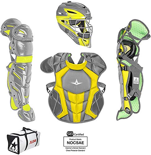 All-Star YTH SYSTEM7 AXIS Elite Catch KIT 18H Graphite/Gold - Pro Gold Chest Protector