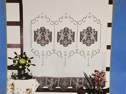 Tenda di Lino ricamata al file: Amazon.it: Casa e cucina