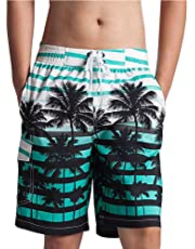 Men's Quick Dry Swim Trunks, Mesh Lining Bathing Suits Board Surf Shorts for Beach Summer