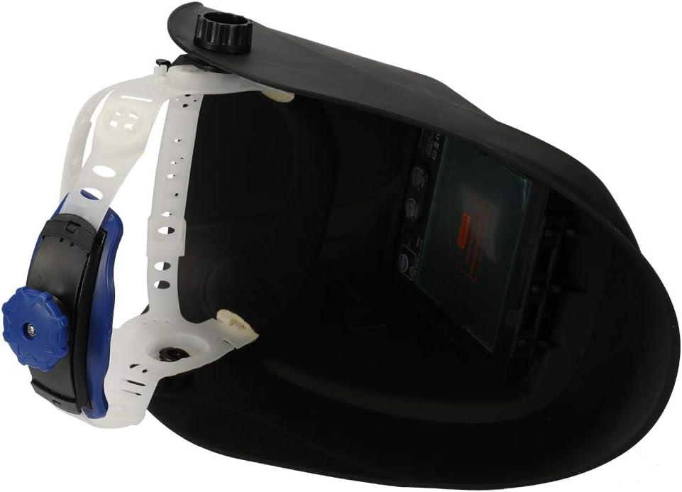 Casco de soldadura TIG GMAW para soldar m/áscara de soldadura de luz solar de cambio autom/ático con ventana grande y 4pcs sensores de arco