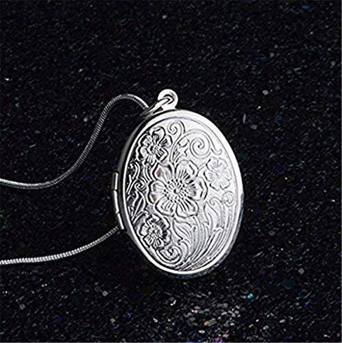 - Peige Pendant Long Chain Sweater Necklace Jewelry,Fashion 925 Sterling Silver Rose Round Locket Necklace Box Snake Chain Jewelry