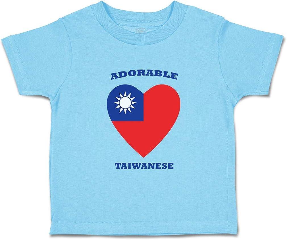 Custom Baby /& Toddler T-Shirt Adorable Taiwanese Heart Cotton Boy Girl Clothes