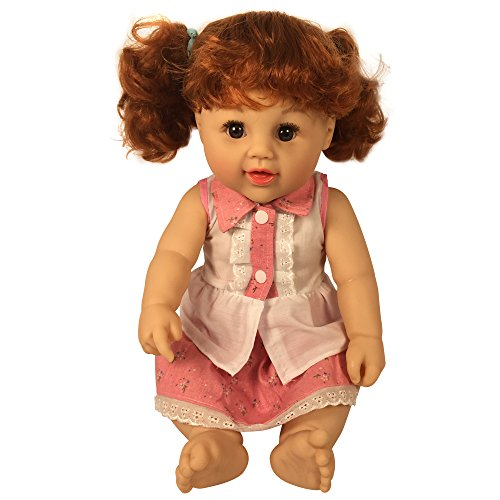 Antique Porcelain Dolls Arms (Red Haired Cute Dolls 18 Inch Toddler Vinyl Doll for Ages 3+ | Fits American Girl clothing)