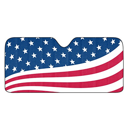 Team ProMark USA Flag Universal Auto Sun Shade (Team Sunshade Car)