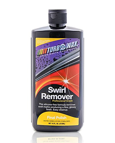 Turbo Wax Professional Grade Swirl Remover 16oz Bottle, Eliminates Light Scratches and Swirl Marks, and Leaves a High Gloss Wet Mirror - Glasses Filler For Scratch