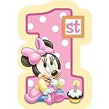 Baby Minnie Mouse 1st Birthday Invitations 8 Pkg Disney Invites Party