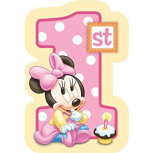 Baby Minnie Mouse 1st Birthday Invitations 8 Pkg Disney Invi